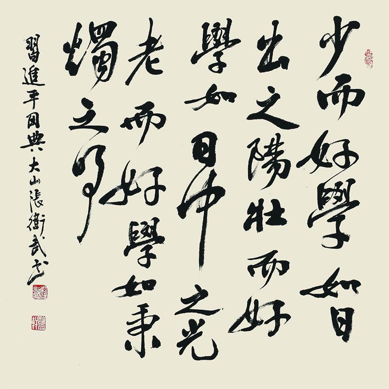 074张卫武-行书斗方-习近平用典